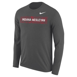 Nike Men's Legend LS Tee, Charcoal Heather