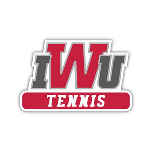 IWU Tennis Decal - M14