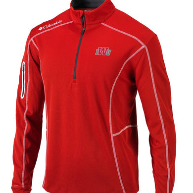 Columbia Men's Omni-Wick Shotgun 1/4 Zip, Red