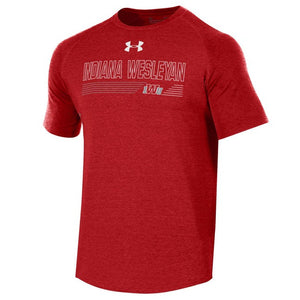 Under Armour Men's Longline Tee, Red