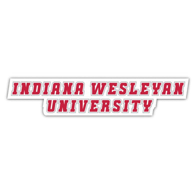 IWU Stacked Decal - D6
