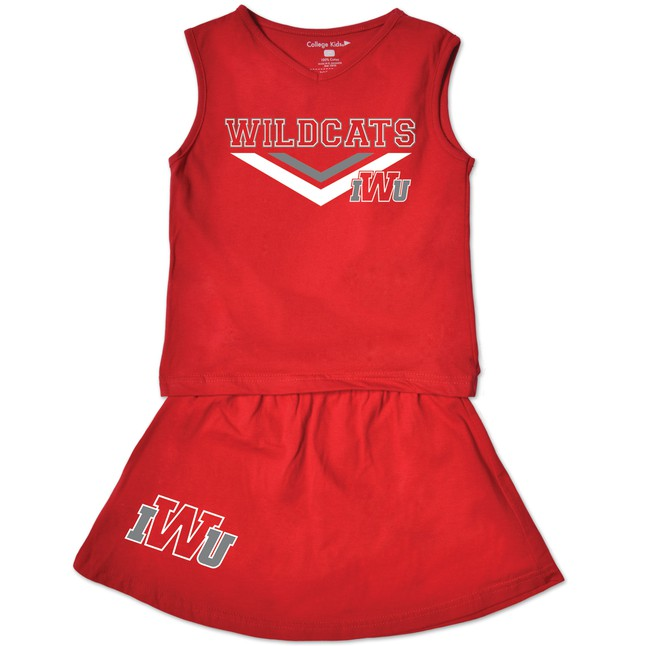 College Kids Toddler Cheer Set, Red