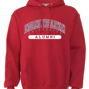 Russell Men's Alumni Hooded Sweatshirt, Red