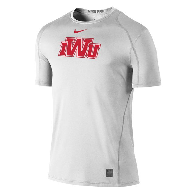 Nike Men's Pro Cool Fitted Tee, White