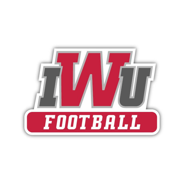 IWU Football Decal - M9