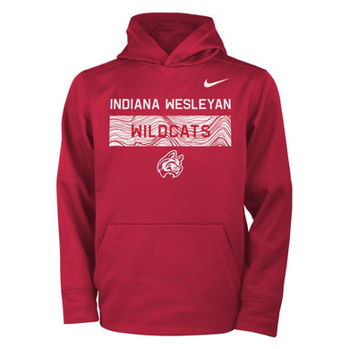 Nike Youth Therma Hoodie, Red