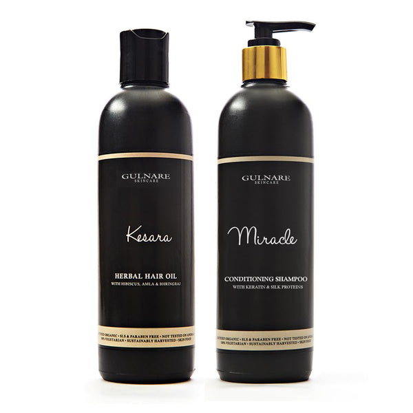Conditioning Hair care kit with Herbal hair oil & Shampoo