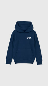 Infinity Symbol Hoodie Black Heather Blue