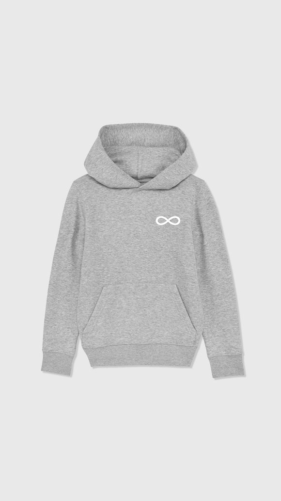 Infinity Symbol Hoodie Heather Grey