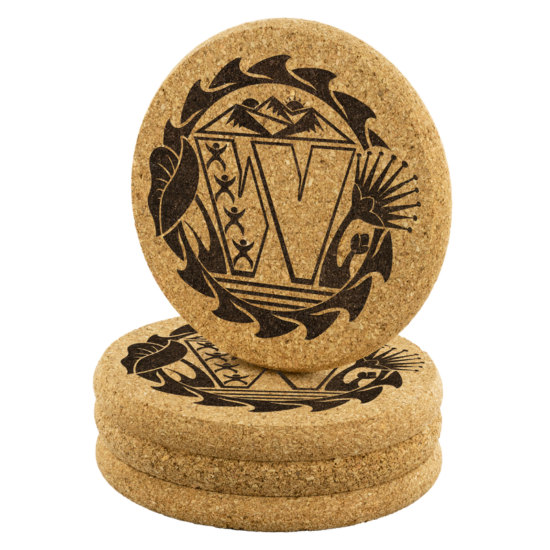 Wahine Veterans - Laser Etched Cork Coaster