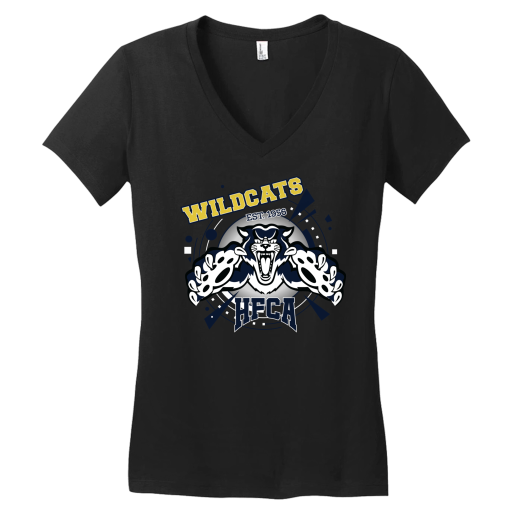 "Holy Family Catholic Academy (HFCA) - ""Wildcat Pride"" - Women's V-Neck T-Shirt"