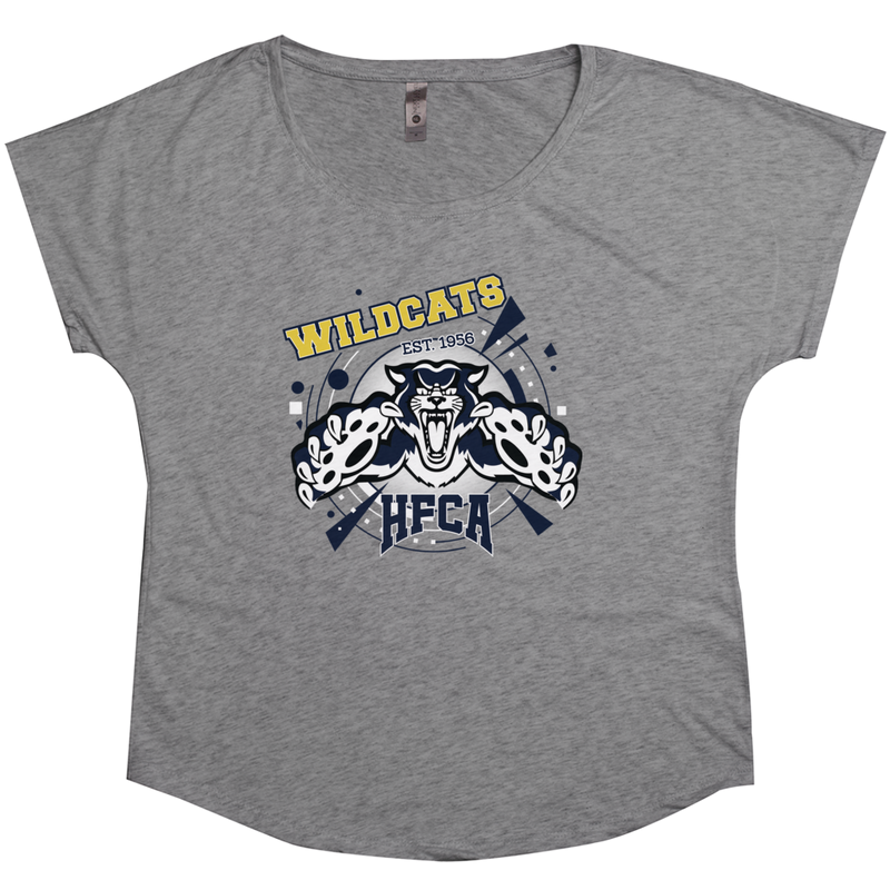 "Holy Family Catholic Academy (HFCA) - ""Wildcat Pride"" Tri-Blend Women's T-Shirts"