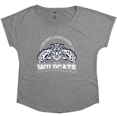"Holy Family Catholic Academy (HFCA) - ""Pounce"" - Tri-Blend Women's T-Shirts"