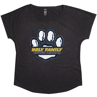 "Holy Family Catholic Academy (HFCA) - ""Holy Family Wildcats"" Tri-Blend Women's T-Shirts"