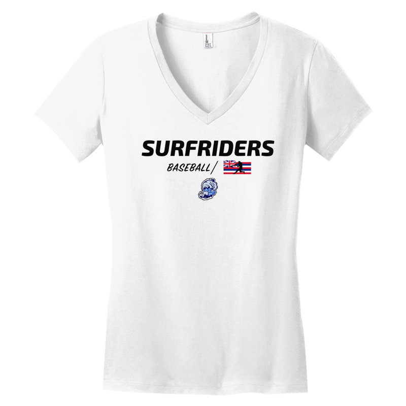 KAILUA - SURFRIDERS BASEBALL - WOMEN'S V-NECK T-SHIRT