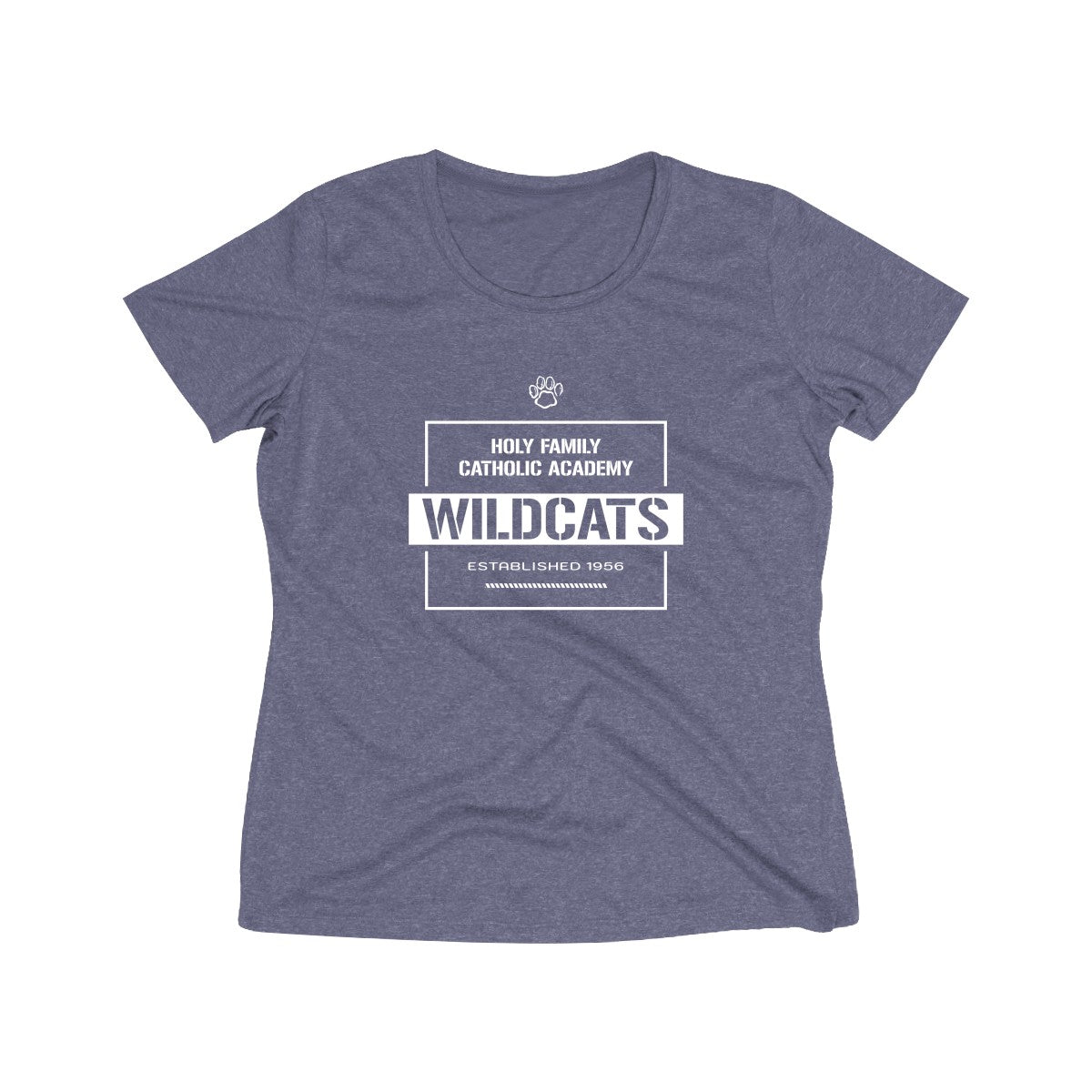 "Holy Family Catholic Academy (HFCA) - ""Warehouse"" - Women's Heather Wicking Tee"