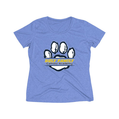 "Holy Family Catholic Academy (HFCA) - ""Holy Family Wildcats"" - Women's Heather Wicking Tee"