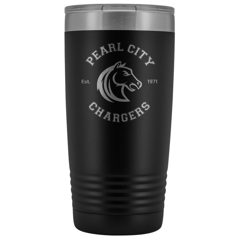 Pearl City Chargers - 20oz Laser Etched Vacuum Tumbler