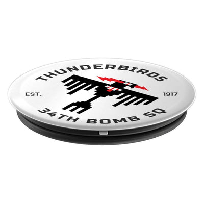 34th Bomb Squadron - 34BS Thunderbirds - Ellsworth AFB, SD - PopSockets Grip and Stand for Phones and Tablets