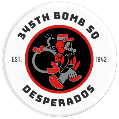 345th Bomb Squadron - Desperados - Dyess AFB, Texas - PopSockets Grip and Stand for Phones and Tablets