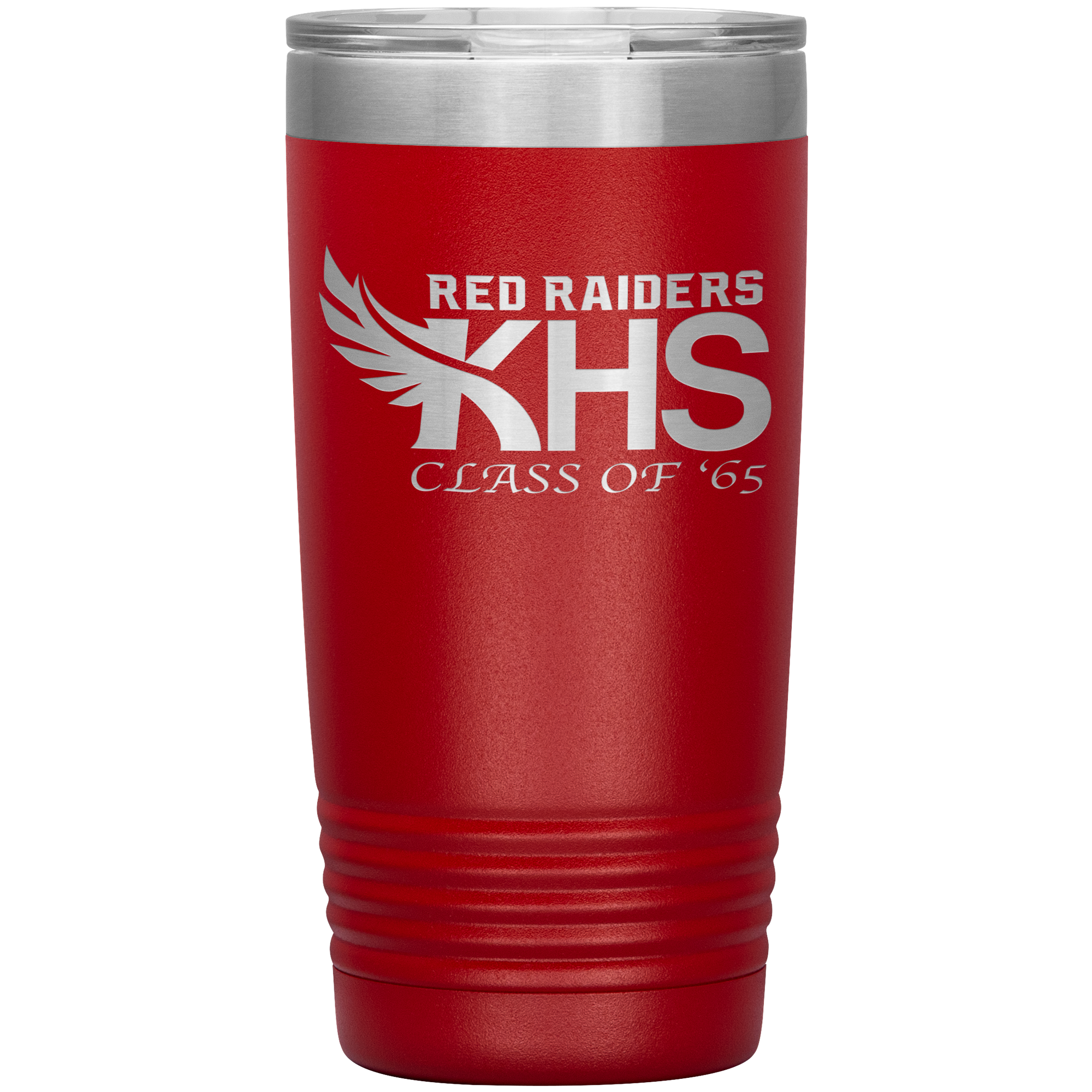 Kauai Red Raiders - Class of '65 - 20oz Laser Etched Vacuum Tumbler