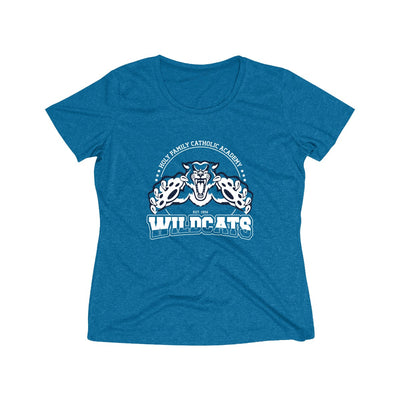 "Holy Family Catholic Academy (HFCA) - ""Pounce"" - Women's Heather Wicking Tee"