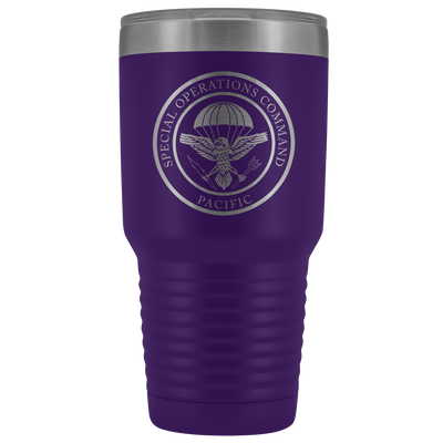 Special Operations Command Pacific (SOCPAC) - 30oz Laser Etched Vacuum Tumbler