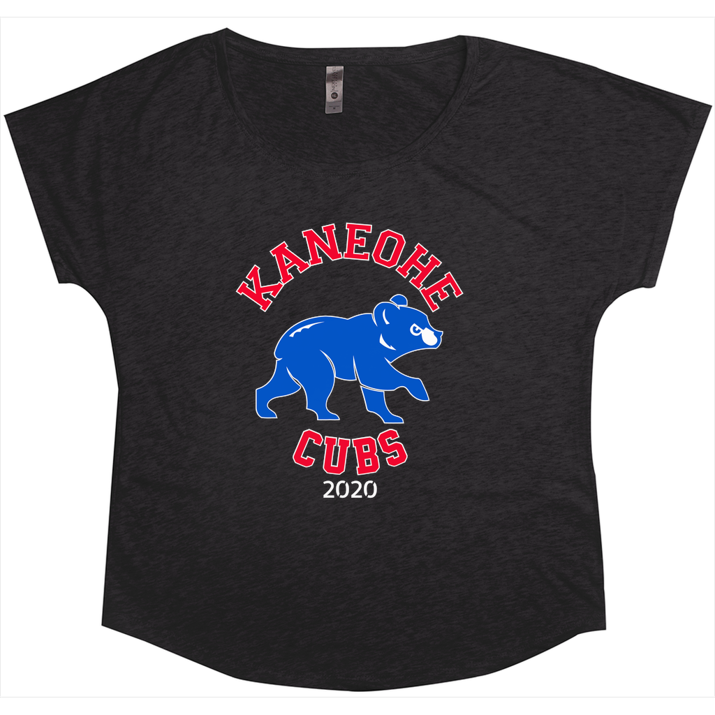 Kaneohe Little League - Cubs - Tri-Blend Women's Dolman T-Shirt