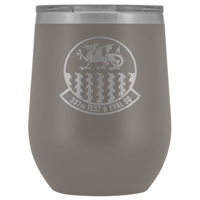 337th Test and Evaluation Squadron - 12-oz Laser Etched Stemless Wine Tumbler
