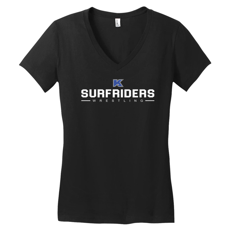 KAILUA SURFRIDERS - WRESTLING - WOMEN'S V-NECK T-SHIRT