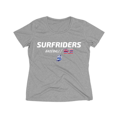 Kailua - Surfriders Baseball - Women's Heather Wicking Tee