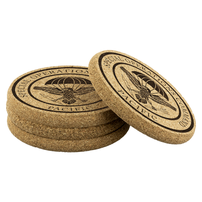 Special Operations Command Pacific (SOCPAC) - Cork Coasters (Set of 4)