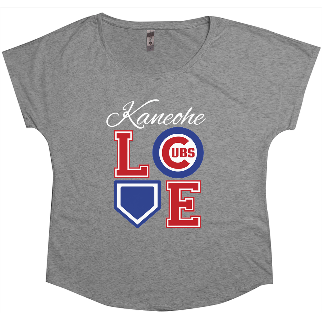 Kaneohe Little League Cubs - LOVE - Tri-Blend Women's Dolman T-Shirt