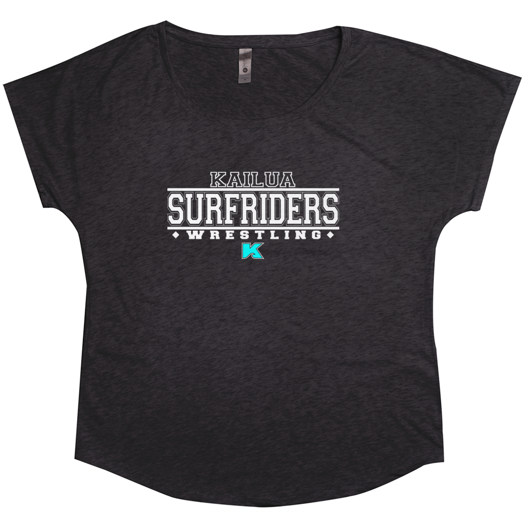 "Kailua Surfriders - Wrestling ""Throwback"" - Tri-Blend Women's T-Shirt"