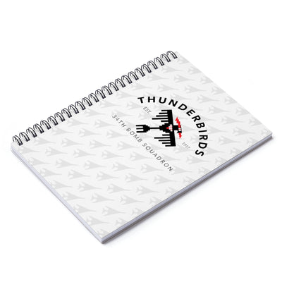 34th Bomb Squadron - Spiral Notebook - Ruled Line