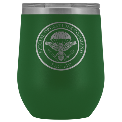 Special Operations Command Pacific (SOCPAC) - 12oz Laser Etched Stemless Wine Tumbler