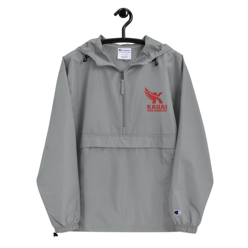 Kauai Red Raiders - Embroidered Champion Packable Jacket