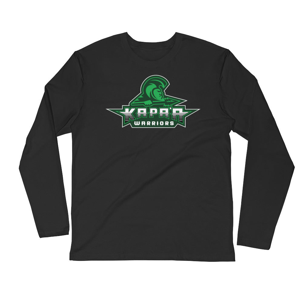 "Kapa'a - ""Warriors Logo"" - Long Sleeve Fitted Crew"