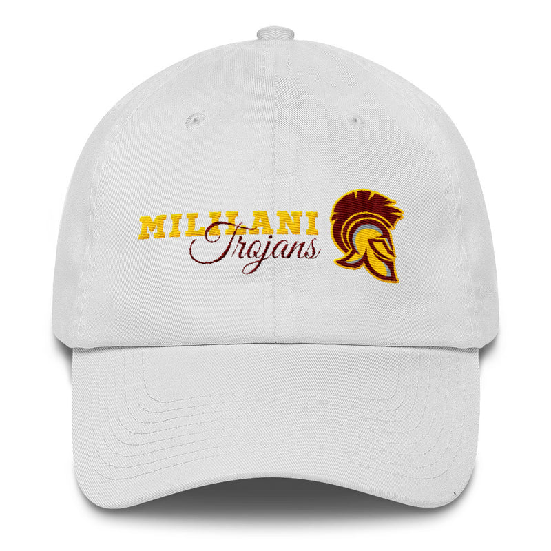 Mililani High - Trojans - Embroidered Cotton Dad Cap