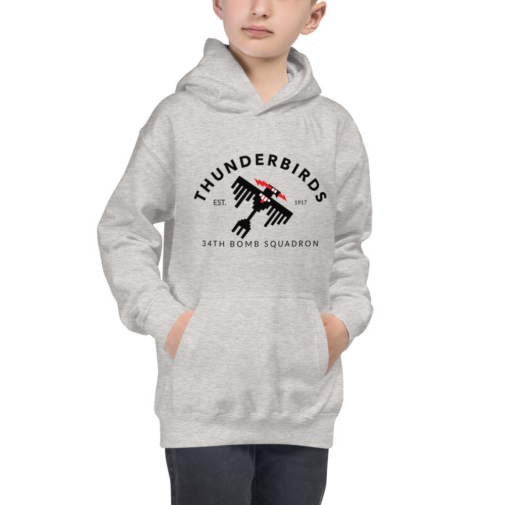 "34th Bomb Squadron - ""Industrial"" - Kid's Hoodie"