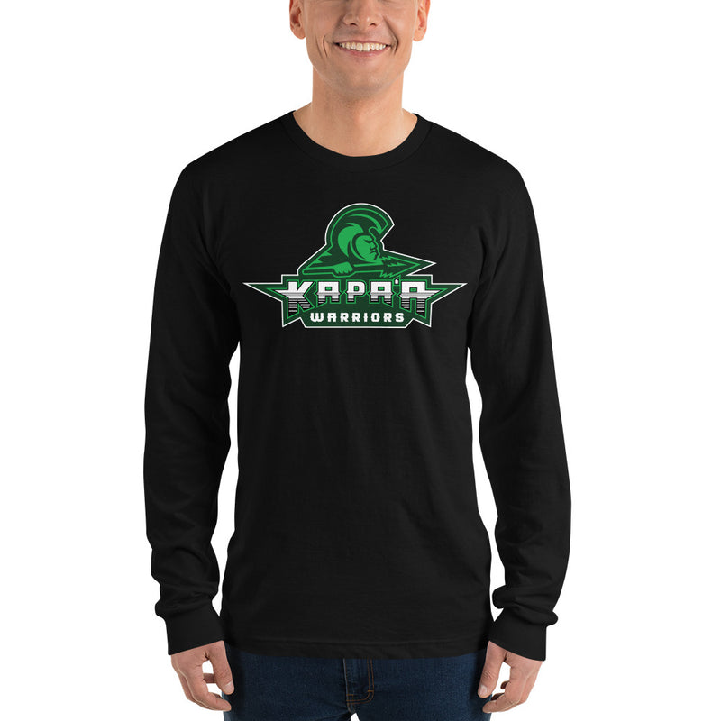 "Kapa'a - ""Warriors Logo"" - Long sleeve t-shirt"