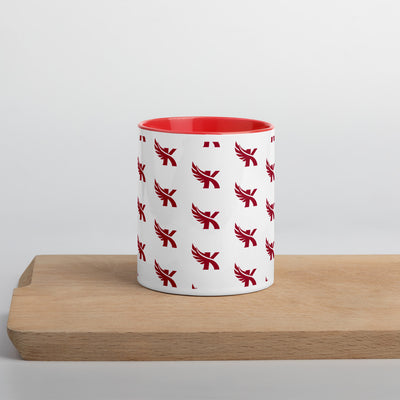 "Kauai Red Raiders - ""K"" Pattern - Colored Ceramic Coffee Mug"