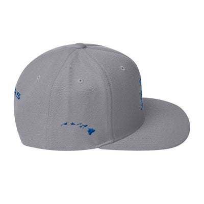 Maui Sabers - Blue on Grey - Snapback Hat