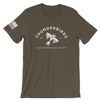 "34th Bomb Squadron - ""Industrial"" - Short-Sleeve T-Shirt"