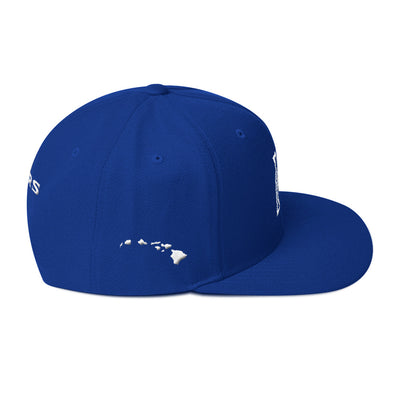 Maui Sabers - White on Blue - Snapback Hat