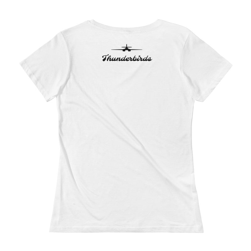 34th Bomb Squadron - Thunderbirds - Pink Ladies' Scoopneck T-Shirt