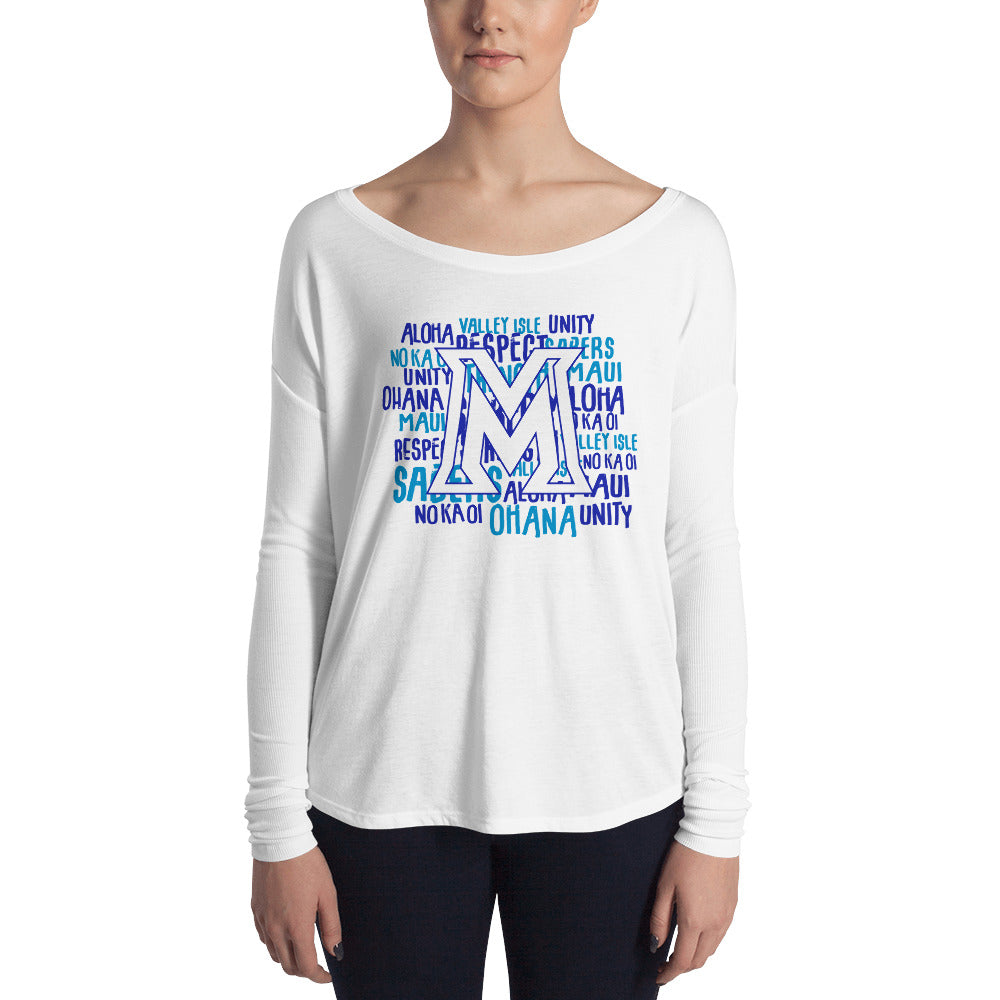 Maui High - Sabers - Ladies' Long Sleeve Tee