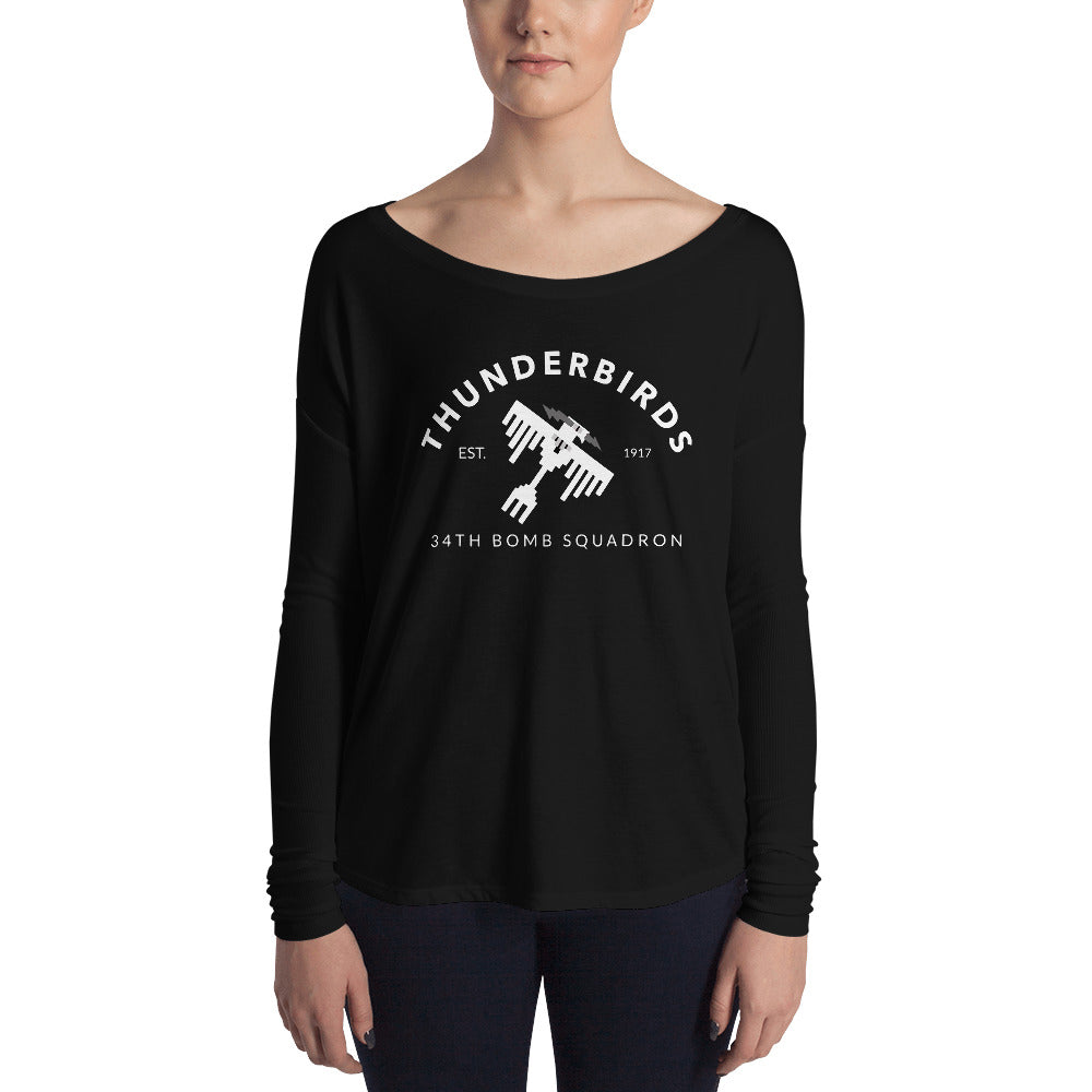 "34th Bomb Squadron - ""Industrial"" - Ladies' Long Sleeve Tee"