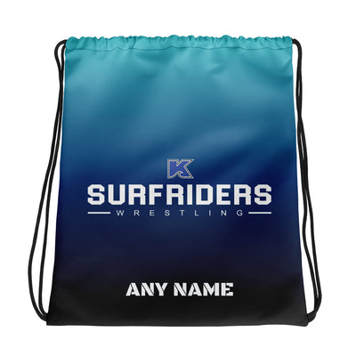 Kailua Surfriders - Wrestling - PERSONALIZED Drawstring bag