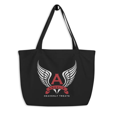 Angel's Heavenly Treats - Large Organic Tote Bag (Black)